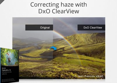 Correcting haze with DxO ClearView