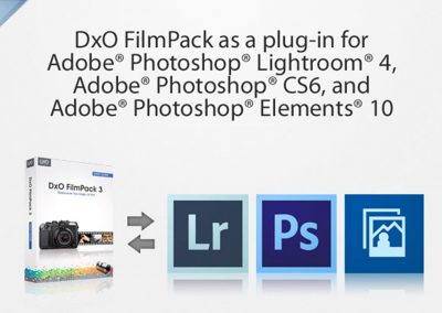 DxO FilmPack als Plug-in für Adobe Photoshop Lightroom 4, Adobe Photoshop CS6 und Adobe Photoshop Elements 10