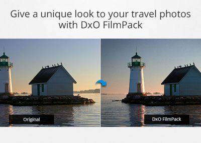 Give a unique look to your travel photos with DxO FilmPack 4