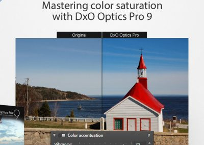 Mastering color saturation with DxO OpticsPro 9